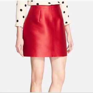 Kate Spade Red Zooey Mini Skirt